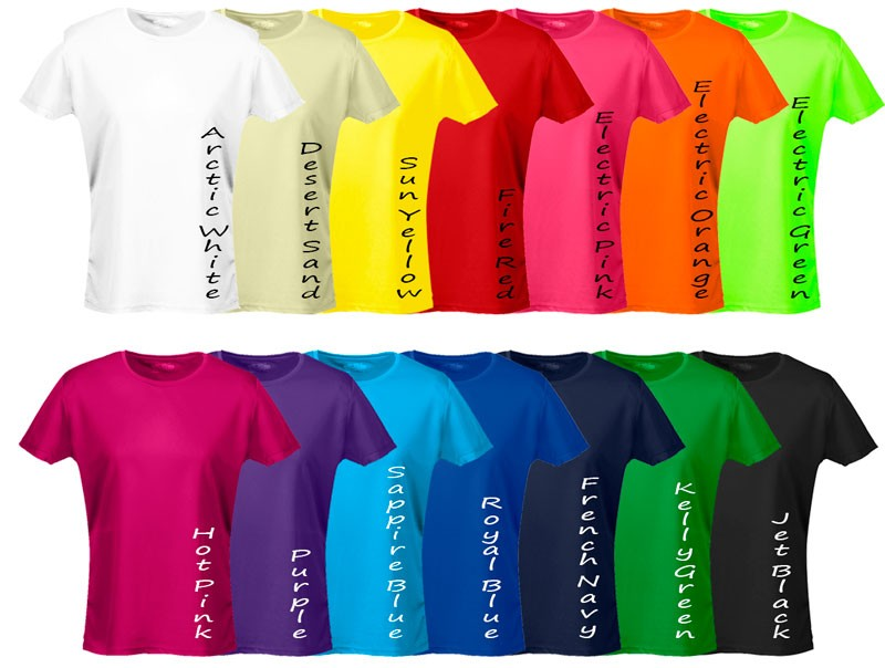 Ladies Scrimmage Sports T-Shirt Coloured SET - Coloured Scrimmage ...